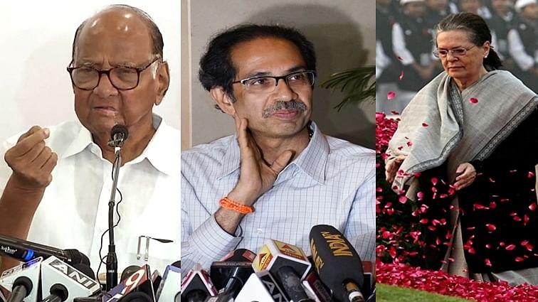 (L-R) Sharad Pawar-Sonia Gandhi-Uddhav Thackeray