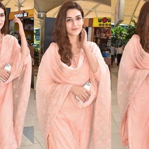 Kriti Sanon's peach salwar suit is a must-have in your desi wardrobe