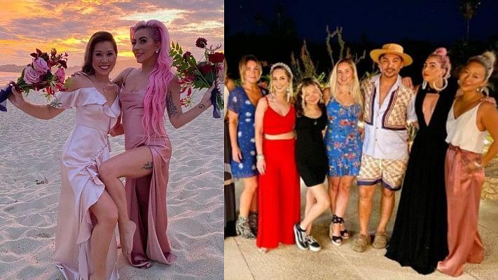 Lady Gaga turns bridesmaid for makeup artist friend Sarah Tanno