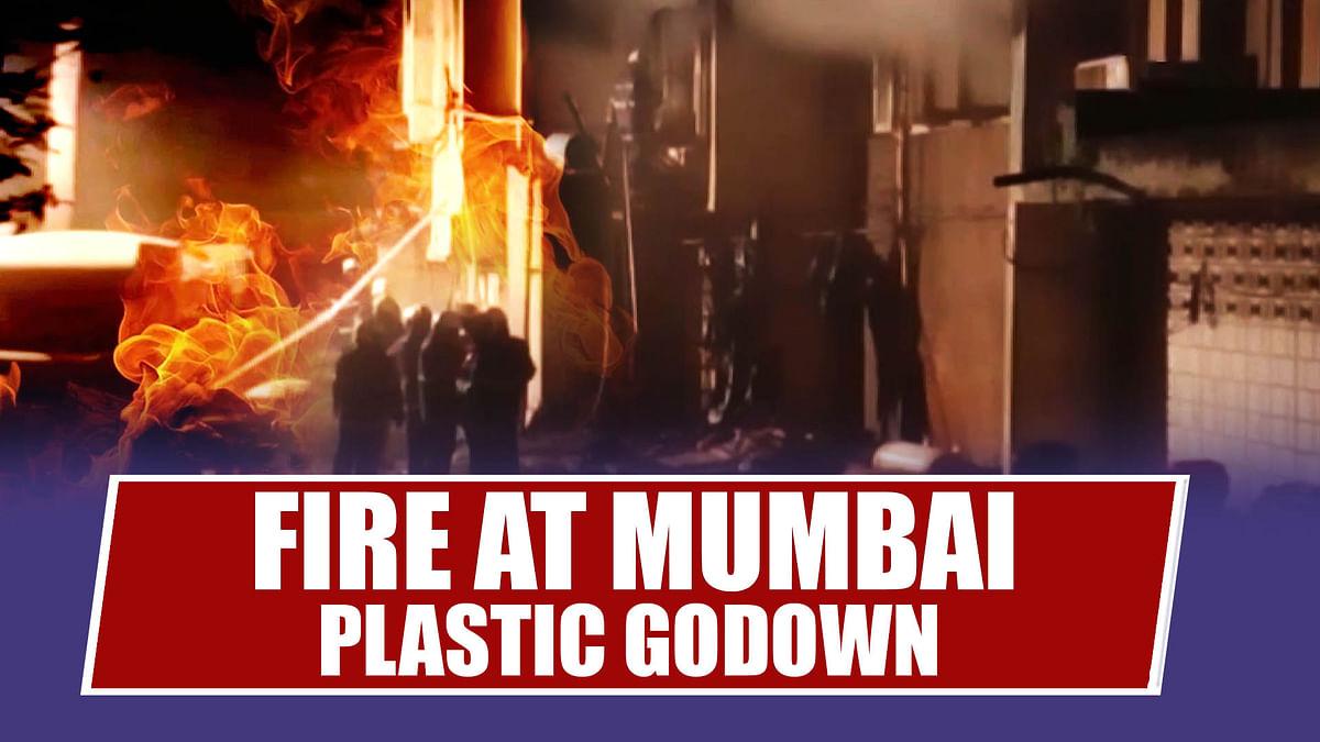 Mumbai: Fire Breaks Out In Plastic Godown