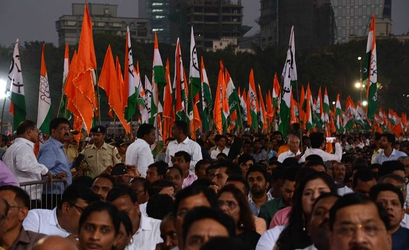 Eye-catching posters, colourful flags adorn Shivaji Park