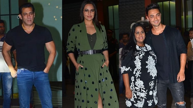 Salman, Sonakshi and other celebs attend Aayush-Arpita's wedding anniversary bash