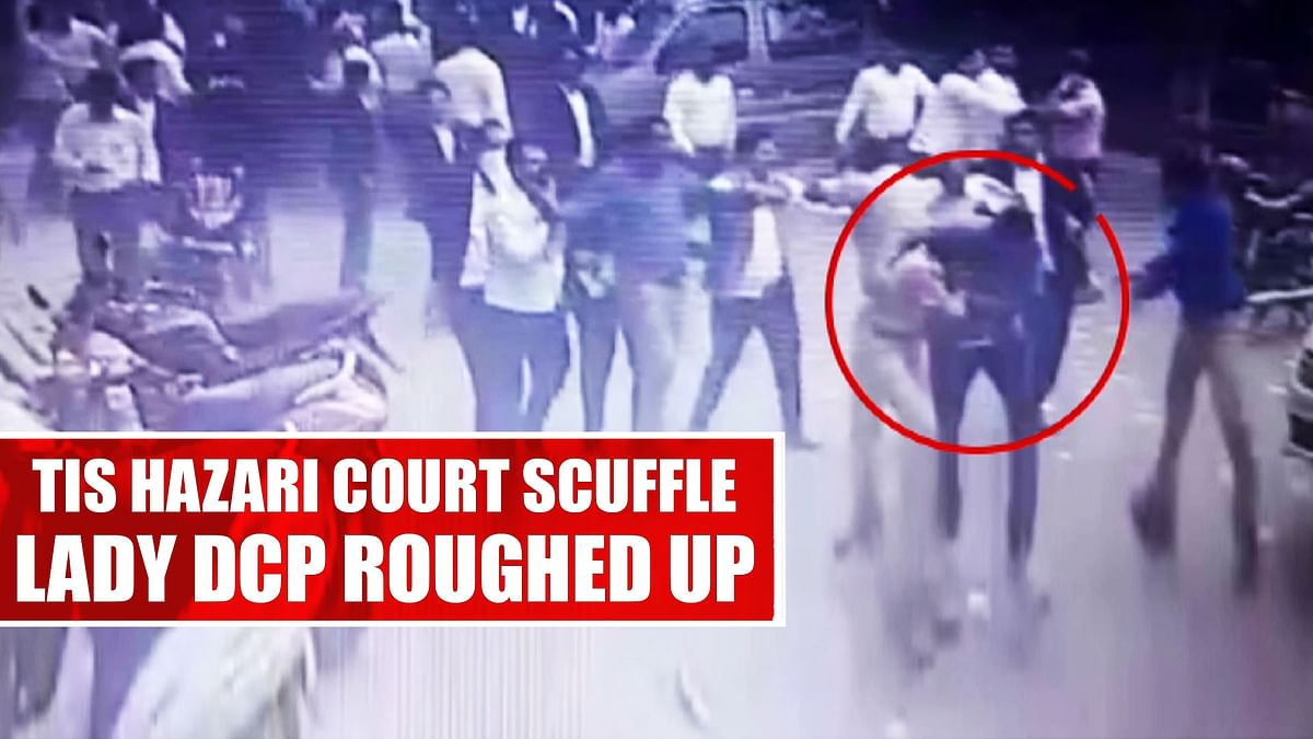 Tis Hazari Court Scuffle: Lady DCP Being Roughed Up In Clash In Delhi