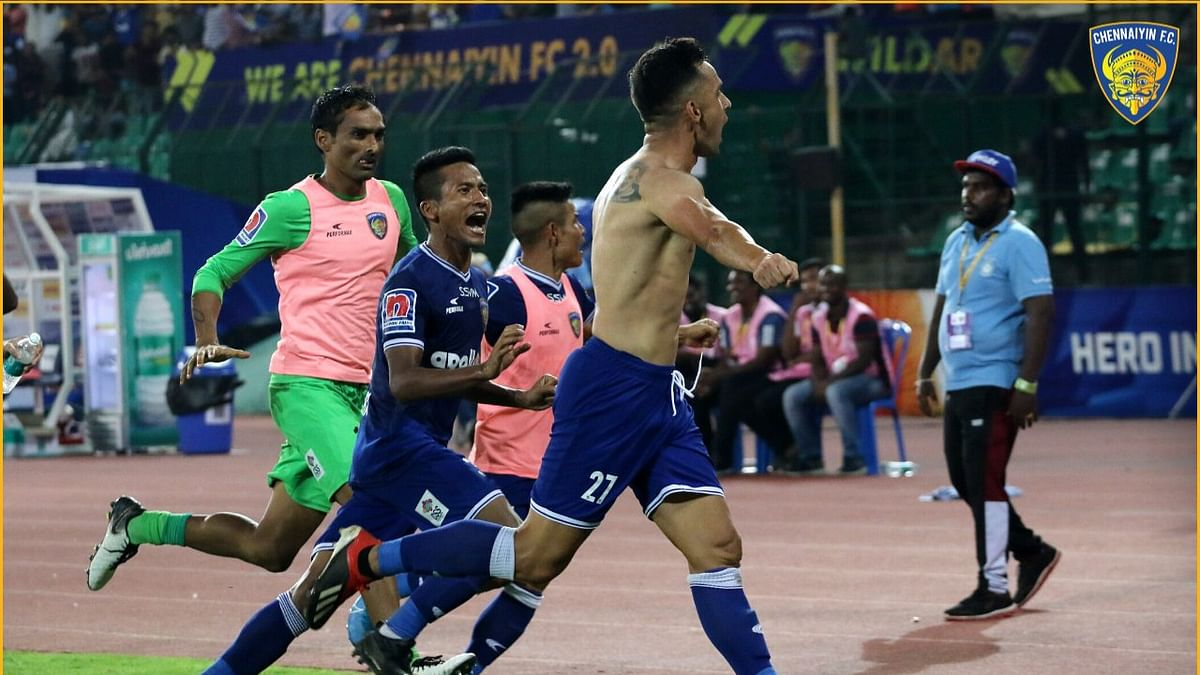 Indian Super League: Chennaiyin beat Hyderabad by 2-1