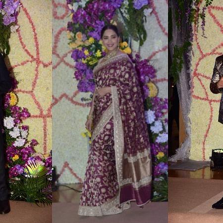 In Pics: Anil, Madhuri, Shahid and other celebs shine at Sooraj Barjatya's son's wedding reception