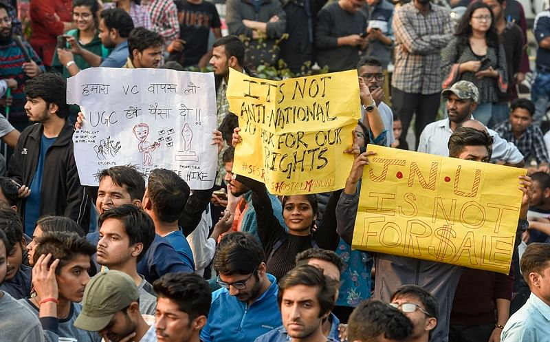 Section of JNU teachers urges students to end protests, get back to academics