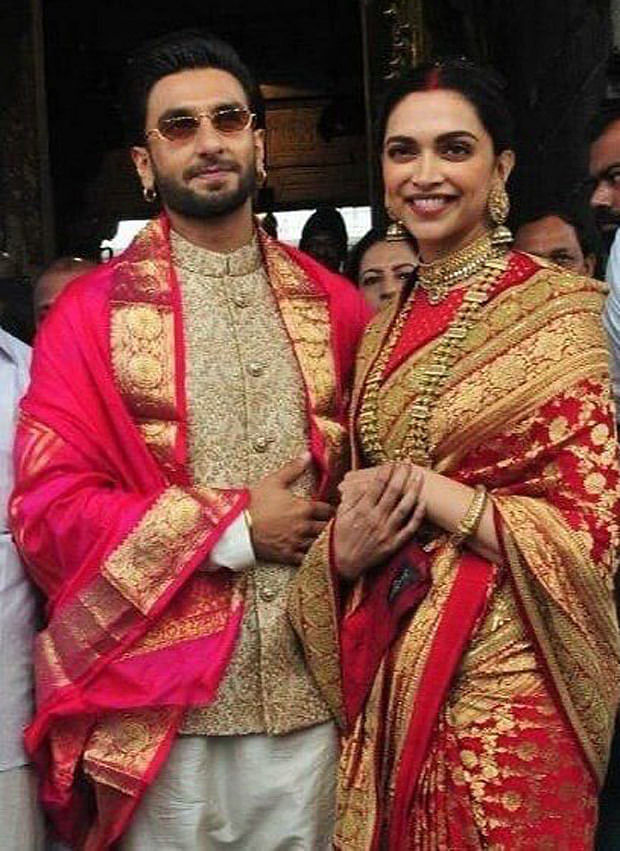 Ranveer, Deepika twin in royal outfits during Tirumala temple visit on first wedding anniversary