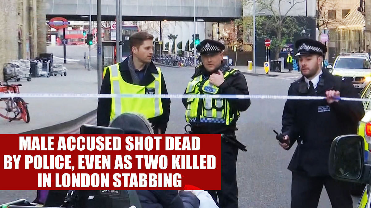 Male accused shot dead by police, even as two killed in London stabbing