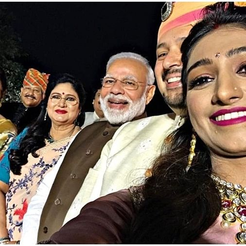 PM Modi attends Mohena Kumari Singh's royal reception in Delhi, clicks selfies