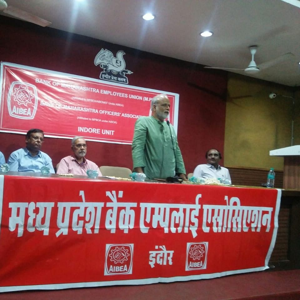 Indore: Privatisation of banks not in interest of common people