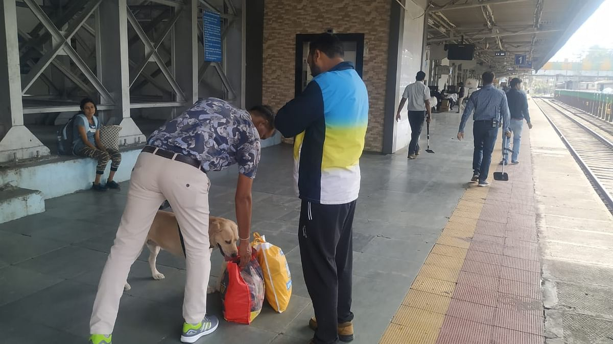 Indore: Passengers' tickets checked before entry at rly platforms
