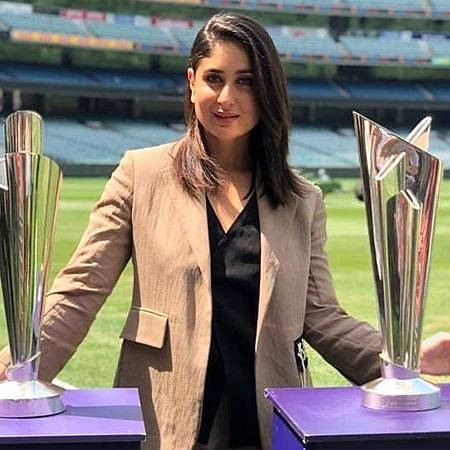 Kareena Kapoor makes Pataudi clan proud, unveils trophies for T20 World Cup in Melbourne