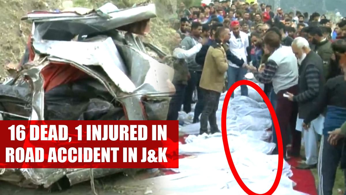 16 dead, 1 injured in road accident in Jammu and Kashmir's Doda
