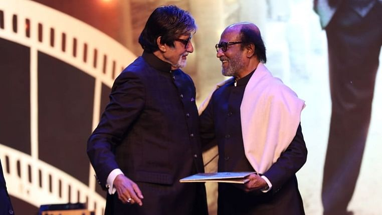 Amitabh Bachchan with Rajinikanth