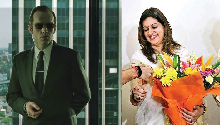 Priyanka Chaturvedi is Agent Smith: Twitter reacts to former Cong leader's predicament