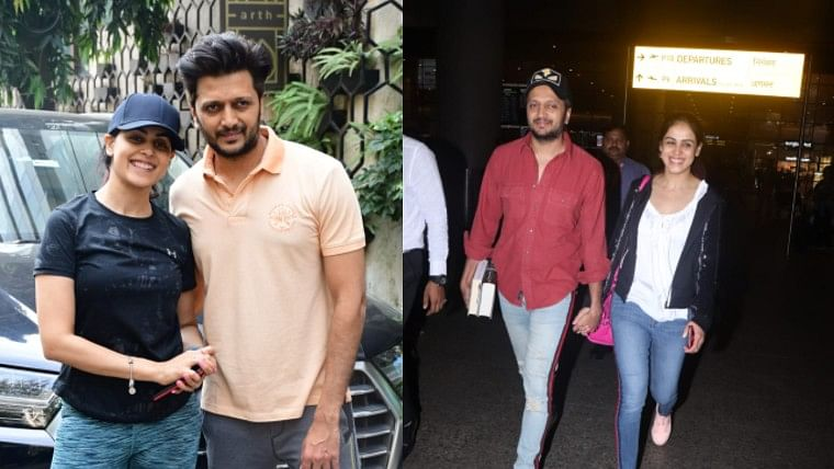 Move over DeepVeer, Riteish and Genelia are the new 'it' couple as they kick off jet lag with a workout session
