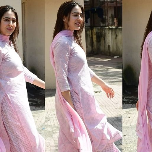 Pretty in Pink: Sara Ali Khan is making us fall in love with her ethnic couture