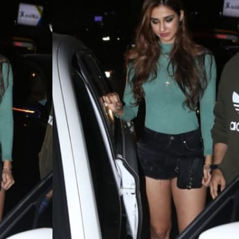 Disha Patani flaunts her toned legs as she gets clicked post-dinner with friends