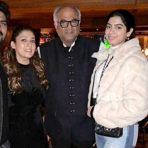 Boney Kapoor reunites with Khushi Kapoor to catch up with Nayanthara