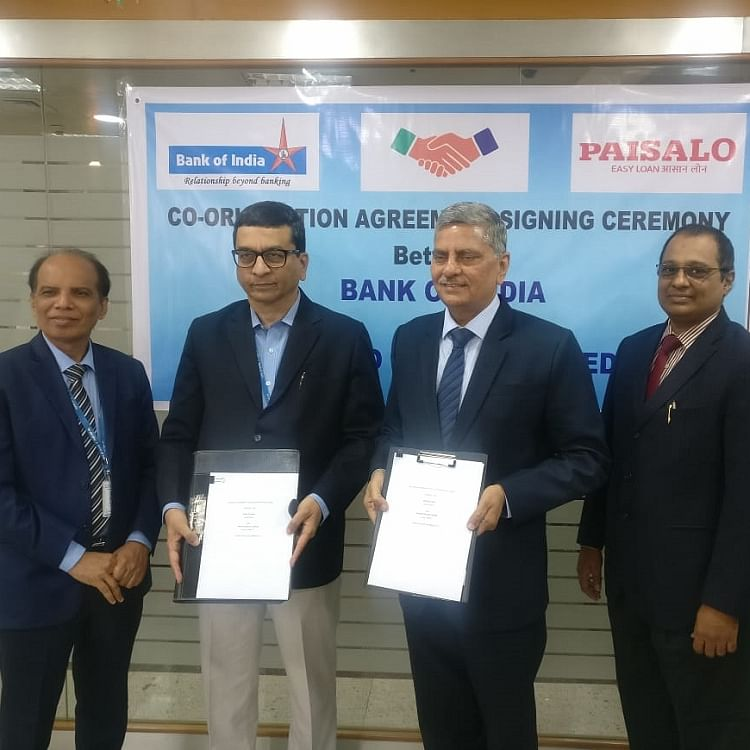 Bank of India signs loan co-origination pact with Paisalo Digital