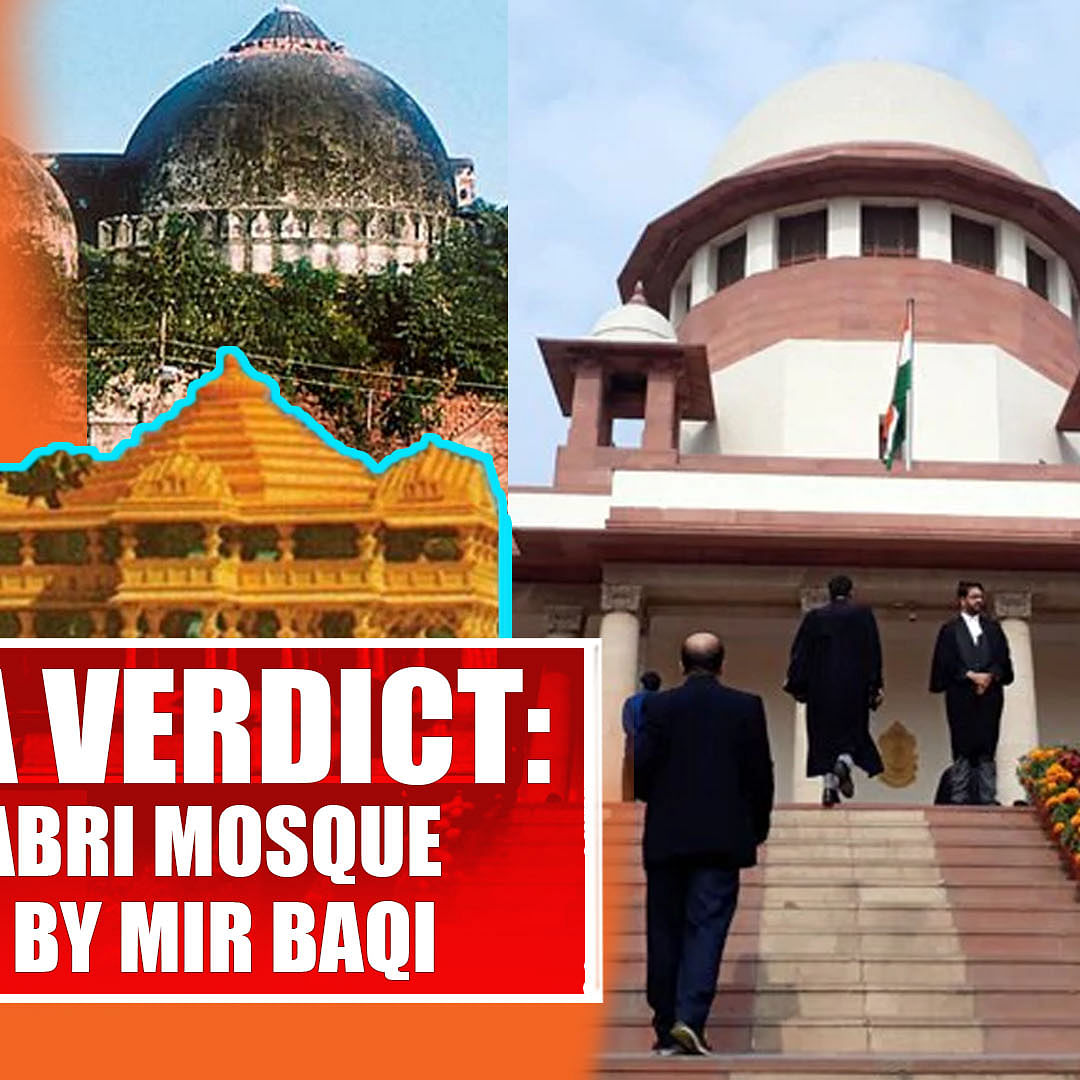 Ayodhya Verdict: SC Says Babri Mosque Was Built By Mir Baqi