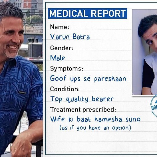 Good Newwz: Akshay Kumar reveals his  medical report