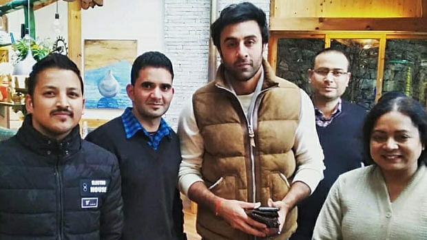 Brahmastra: Ranbir Kapoor is back to work post injury, poses with fans in Manali