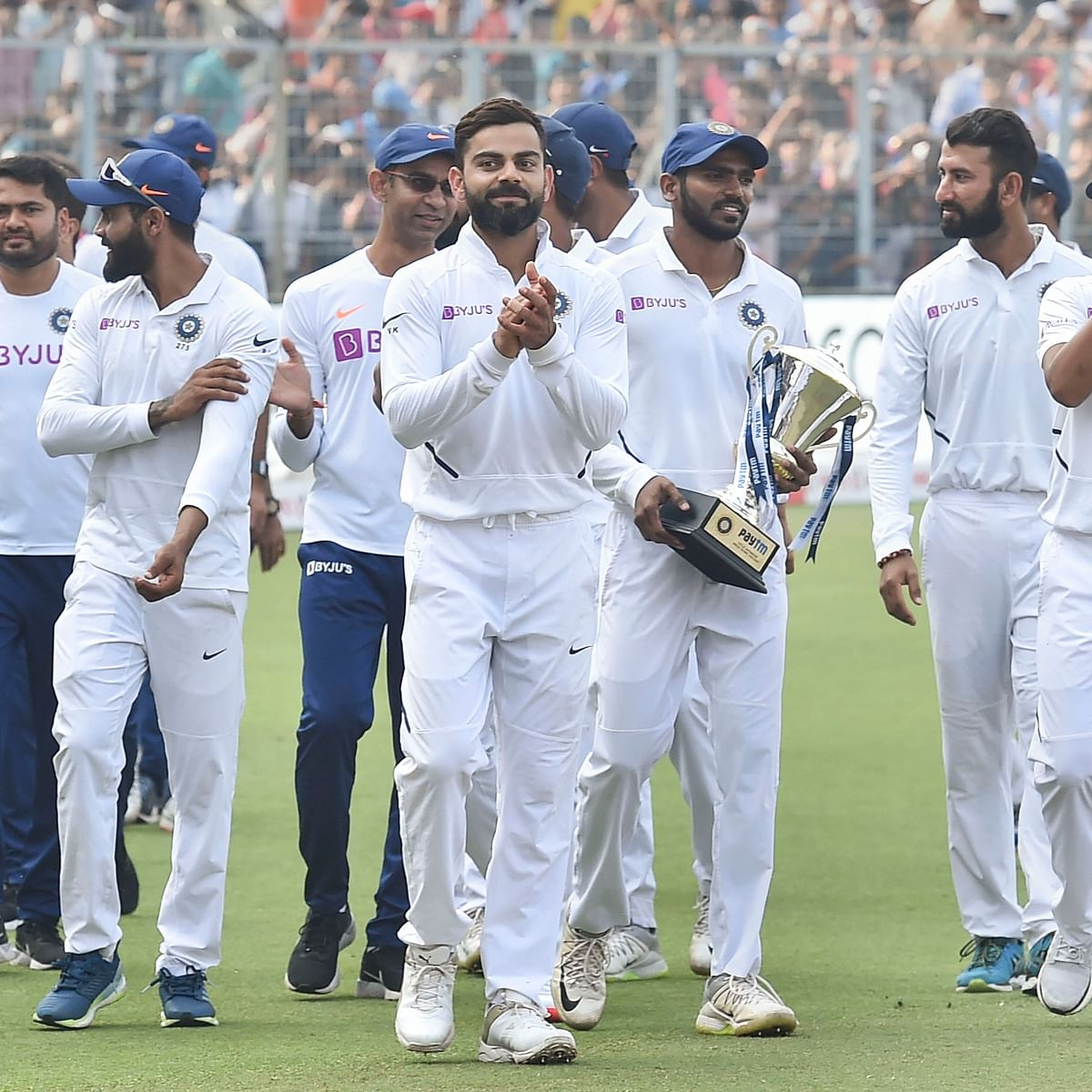 India won by an innings and 46 runs against Bangladesh