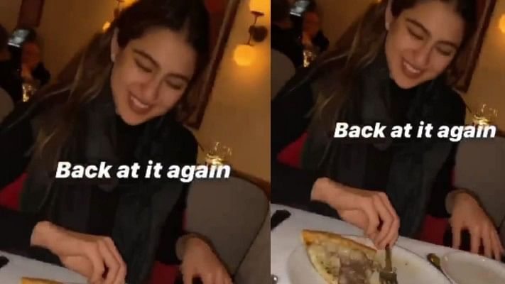 Watch: Sara Ali Khan devours a pizza post workout session in New York