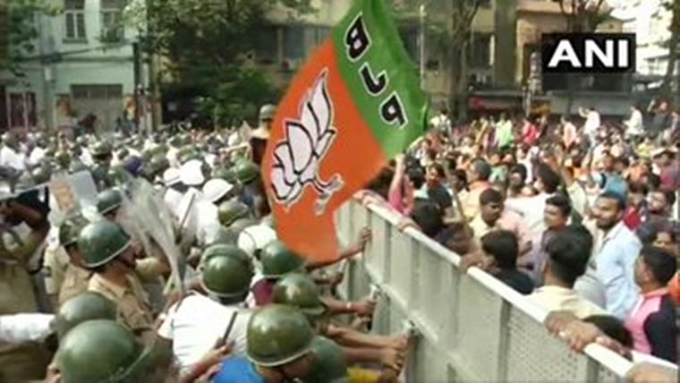 The protest march, convened by the BJP Yuva Morcha, was taken out from Central Avenue in the city and was scheduled to culminate at Kolkata Municipal Corporation (KMC) headquarters, with the gherao of the civic body