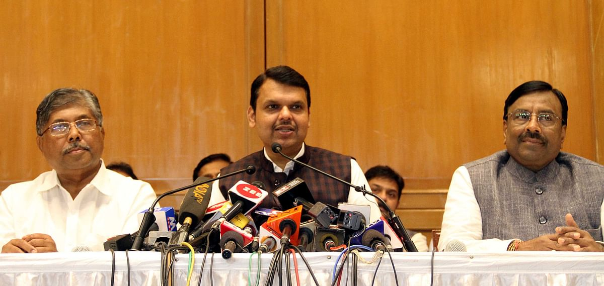 Fadnavis, accompanied by some of his cabinet colleagues, drove to Raj Bhavan, and handed over his resignation to Governor Koshyari