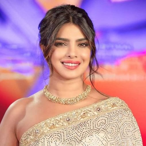 Priyanka Chopra dazzles in a shimmery pearl white saree at the Marrakech International Film Festival