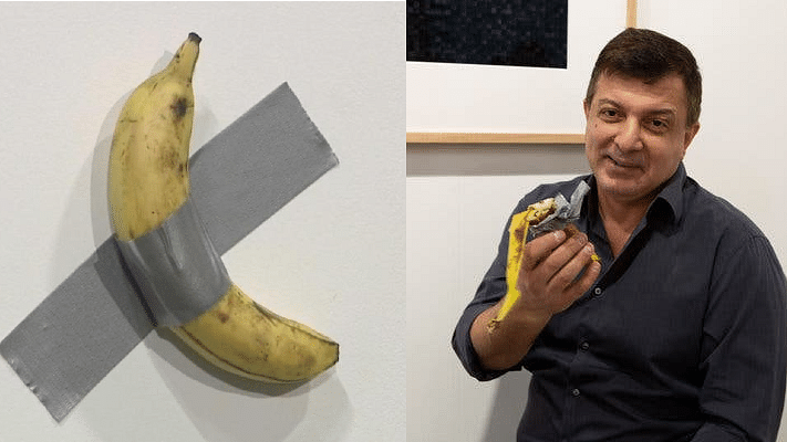 Watch: Man eats duct-taped banana 'artwork' worth Rs 85 lakh!