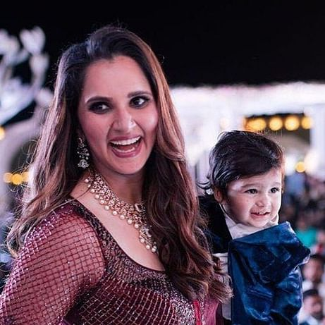 Sania Mirza laughs as son Izhaan chuckles in this adorable pic