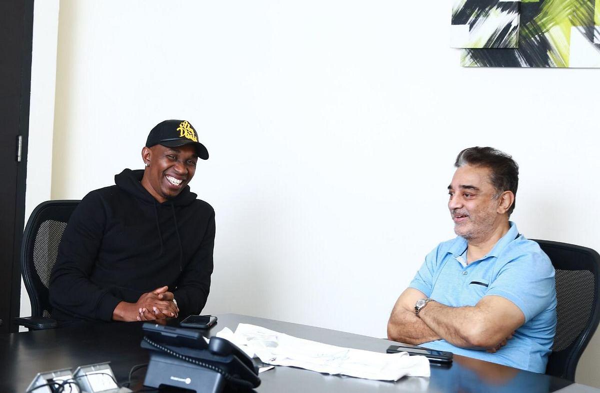 Dwayne Bravo and Kamal Haasan