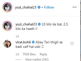 'Abey teri thigh se badi calf hai uski': Virat Kohli brutally trolls Yuzvendra Chahal