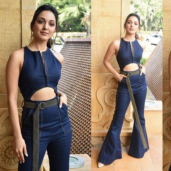 Kiara Advani's denim jumpsuit has a belt that is longer than a snake!