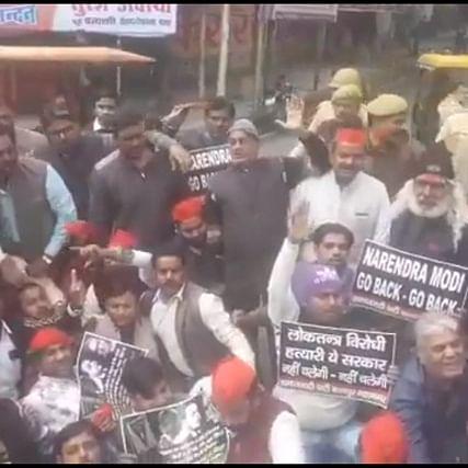 'Narendra Modi go back': Samajwadi Party workers raise slogans opposing PM Modi's Kanpur visit