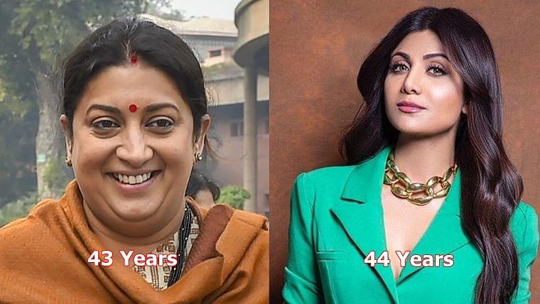 From SRK vs Amit Shah to Shilpa Shetty vs Smriti Irani - Actors and politicians of the same age
