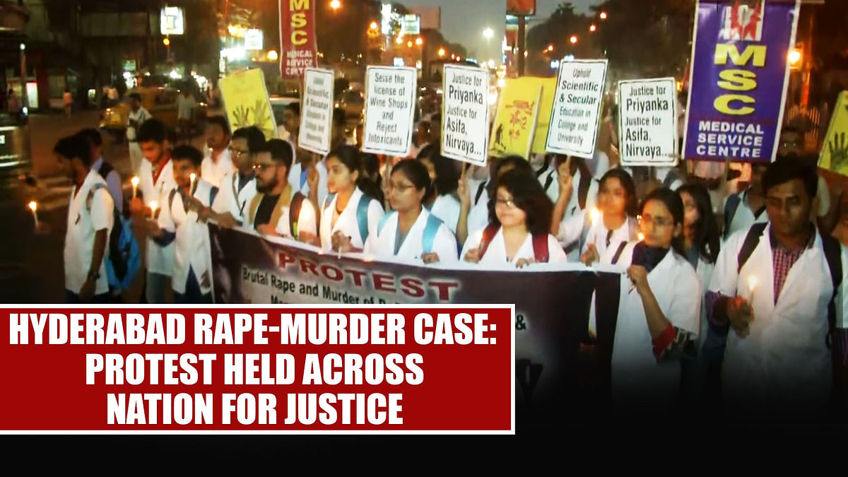 Hyderabad rape-murder case: Protest held across nation for justice