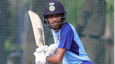 Yuzvendra Chahal batting in net session practice ahead of India' sfirst t20I match against West Indies