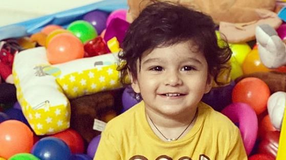 Sania Mirza's son Izhaan is all smiles in this picture