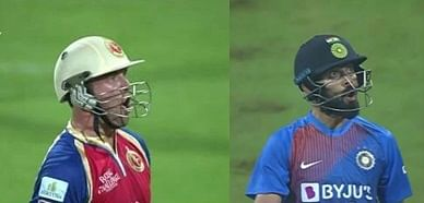 AB De Villiers (left) and Virat Kohli (right)