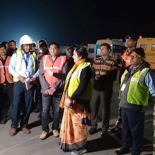 Mock drill at Indore airport