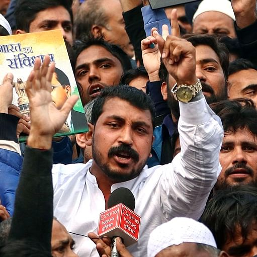 Chandrashekhar Azad's followers chant 'Raavan-Raavan' after he entered court premises