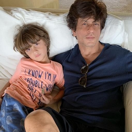 Shah Rukh Khan takes son AbRam's help to share late Christmas wishes