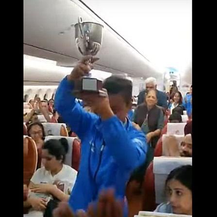 India junior women's hockey team receives warm welcome on flight after winning Tri-Nation series