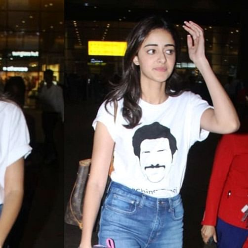Madam Car Todd Diya! Ananya Panday's ride hits another one during 'Pati Patni Aur Woh' screening