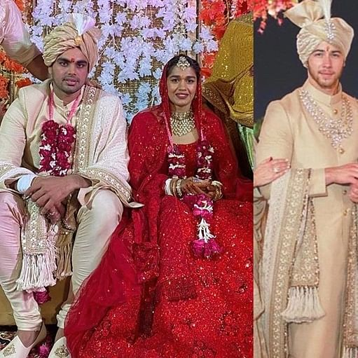 Lady in Red: Did Babita Phogat copy Priyanka Chopra's monotone Sabyasachi lehenga?