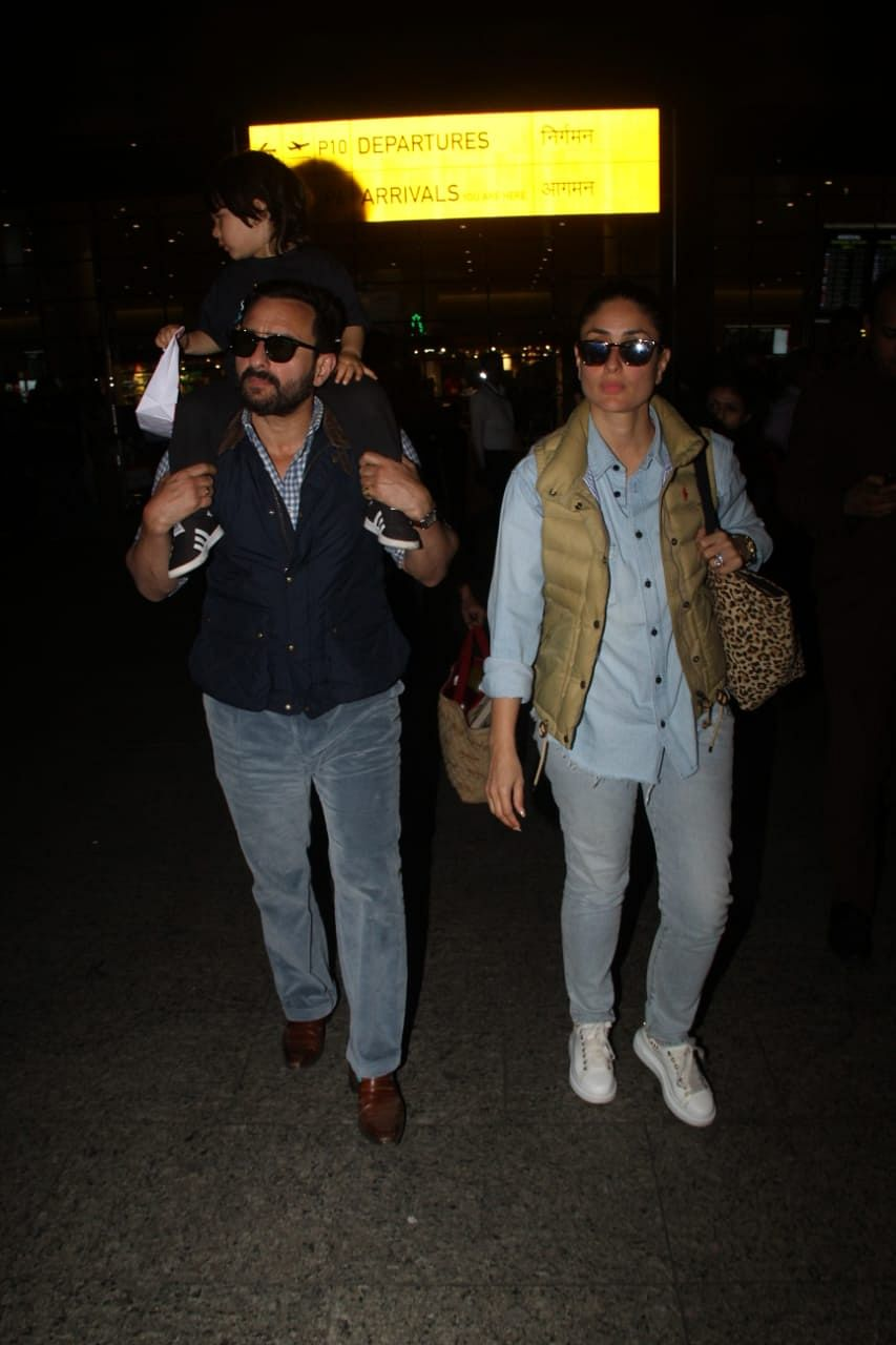 Saif and Kareena with Taimur